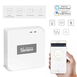 Sonoff zigbee ponte wi fi sem fio conversor de sinal pir 2 sensor/dw1 porta & janela alarme sensor para kits segurança em casa inteligente
