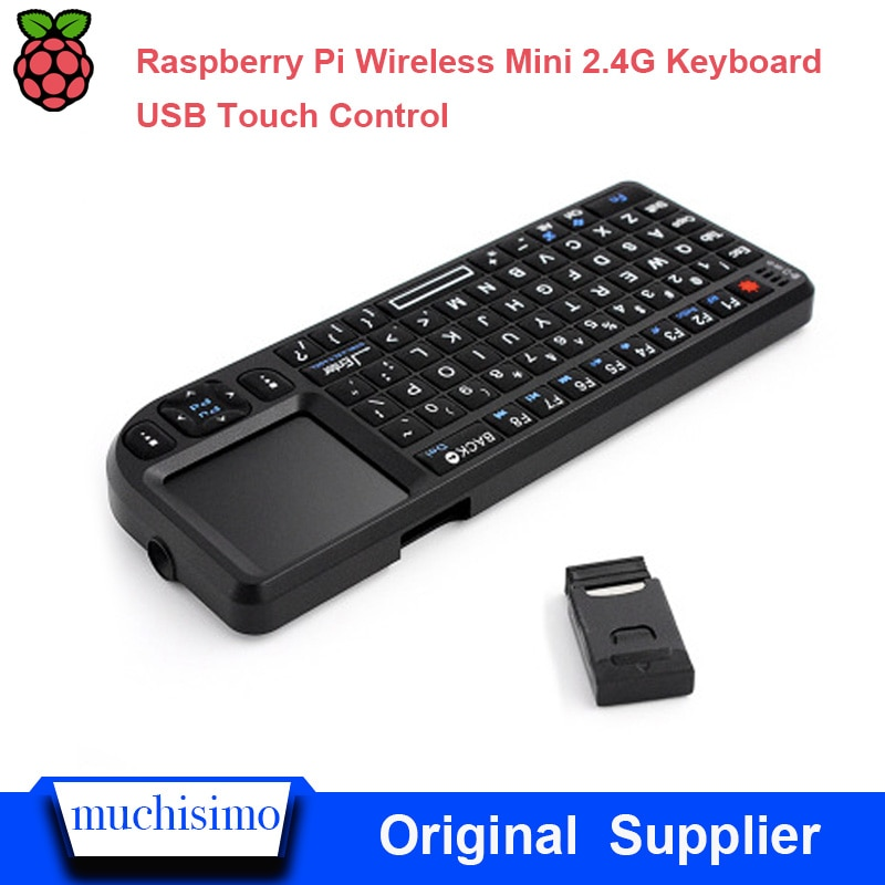 Raspberry Pi 2/3 2.4G teclado sem fio de Silicone macio Chave mouse sensível ao toque all-in-one Inteligente conjunto TV -top box