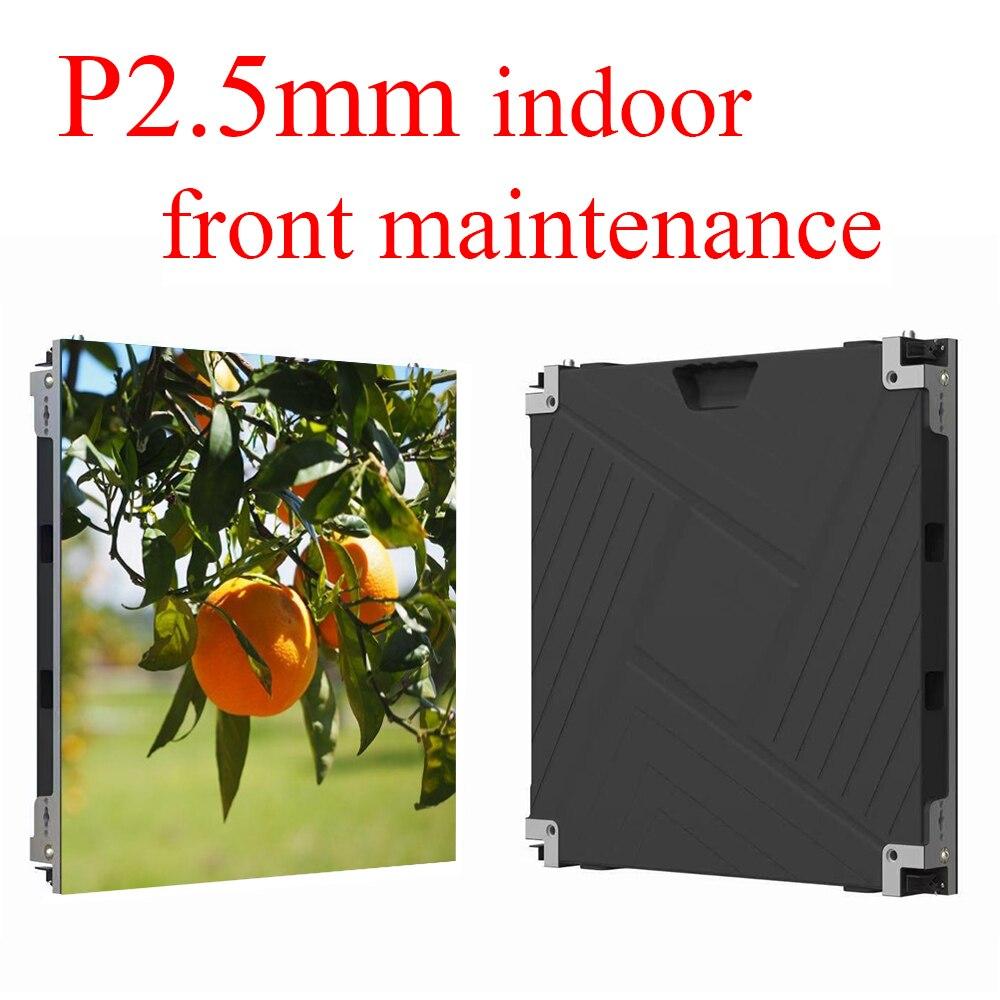 داخلي P2.5 LED مصفوفة لوحة 640x640 مللي متر HD كامل اللون صيانة الجبهة شاشة العرض LED الصغيرة علي اكسبرس شحن مجاني