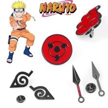 Naruto Cosplay broche accessoire Akatsuki Costumes en métal émail épingle hommes revers Badge Anime accessoires