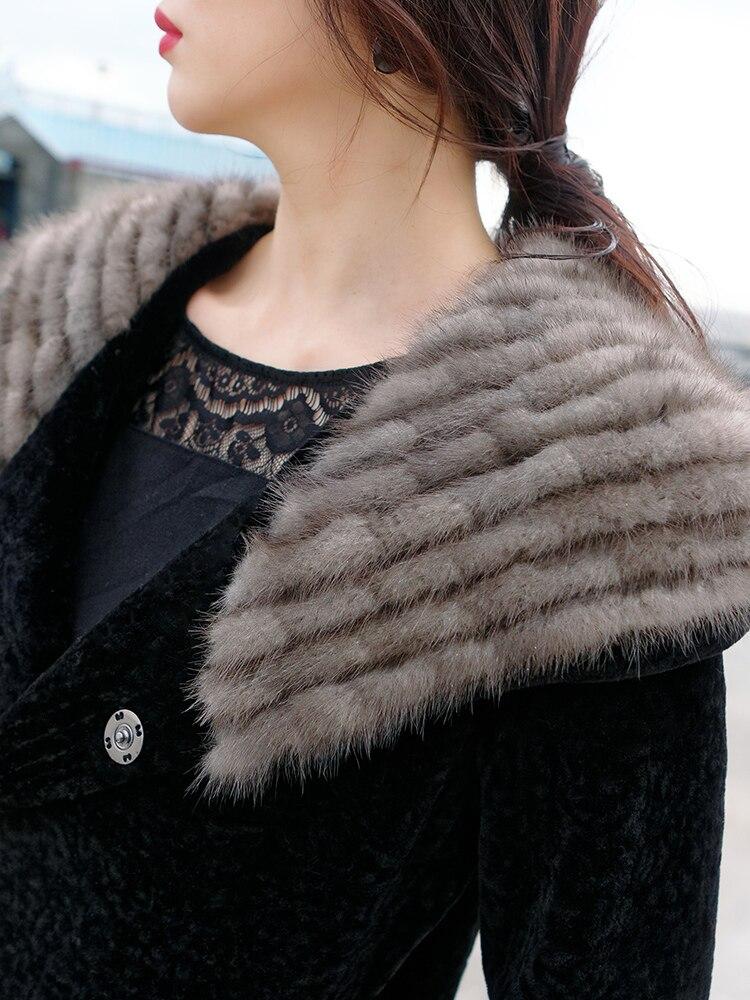 Real Winter Jacket Women Sheep Shearling Wool Coat Female Mink Fur Hooded Long Women's Jackets 2020 KJ708