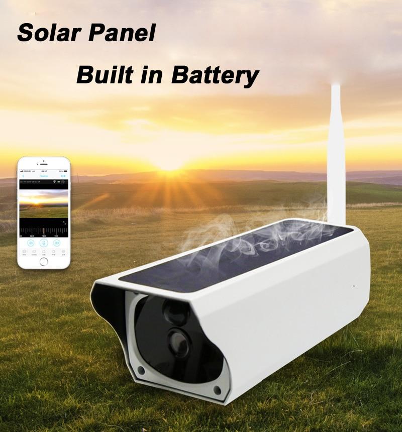 Impermeable al aire libre 1080P de energía Solar WIFI cámara IP soporte tarjeta SIM 4G batería de Audio PIR Wifi HD cámara de vigilancia