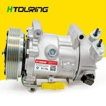 SD6V12 compresseur automatique   Pour Peugeot 206 307, Citroen Fiat 6453XJ 6453QG 6453QE 6453QE 6453QH 9655191680 5215310145 1450 12V