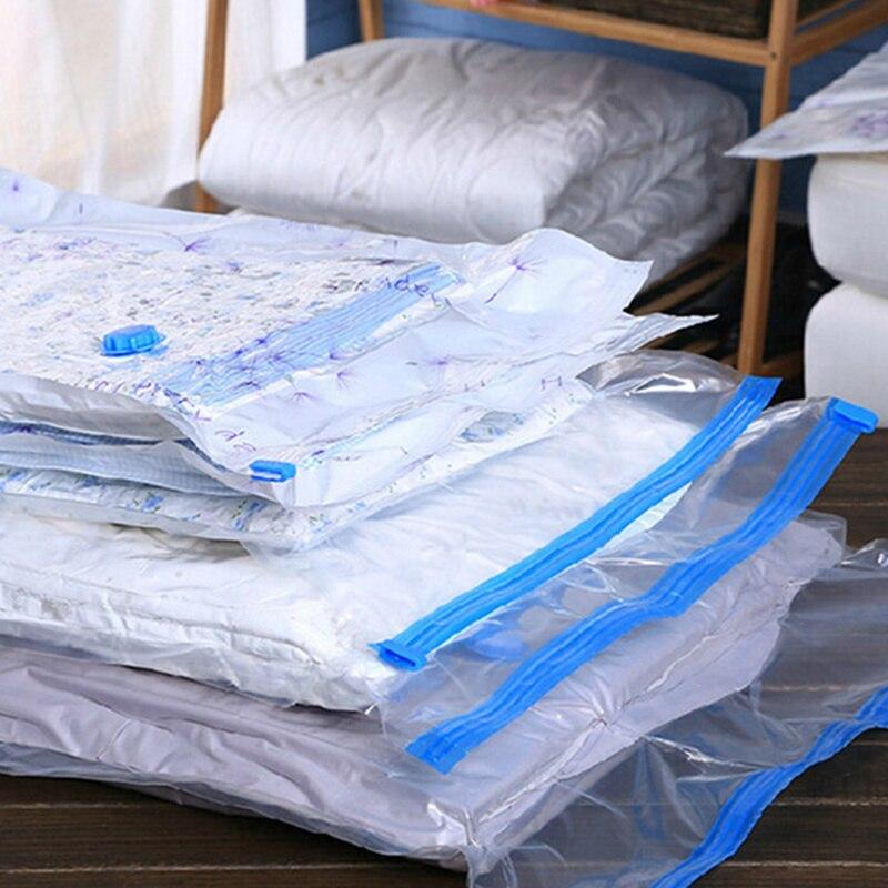 1pc saco de vácuo comprimido organizador roupas colcha bomba ar selo saco para organizar armário guarda-roupa viagens economia espaço sacos