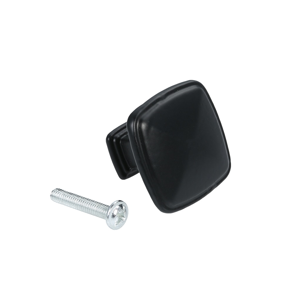 LEEDIS antioxidante a prueba de óxido perilla de gabinete de un solo agujero cajón de estilo americano tirador Cajón Negro armario cuadrado tirador del mango