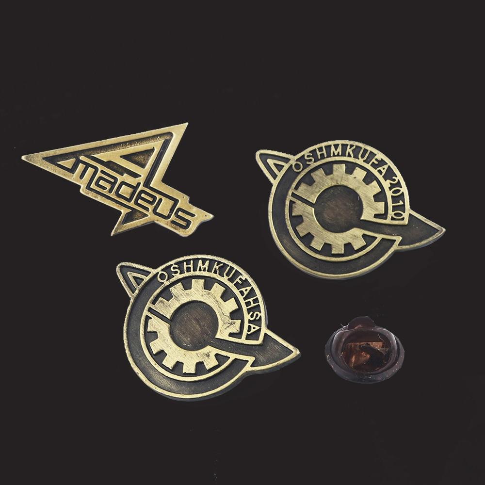 Cartoon Steins Gate Badge Brooches Pins Amadeus Makise Kurisu Labmen The Fate of The Stone Metal Pin