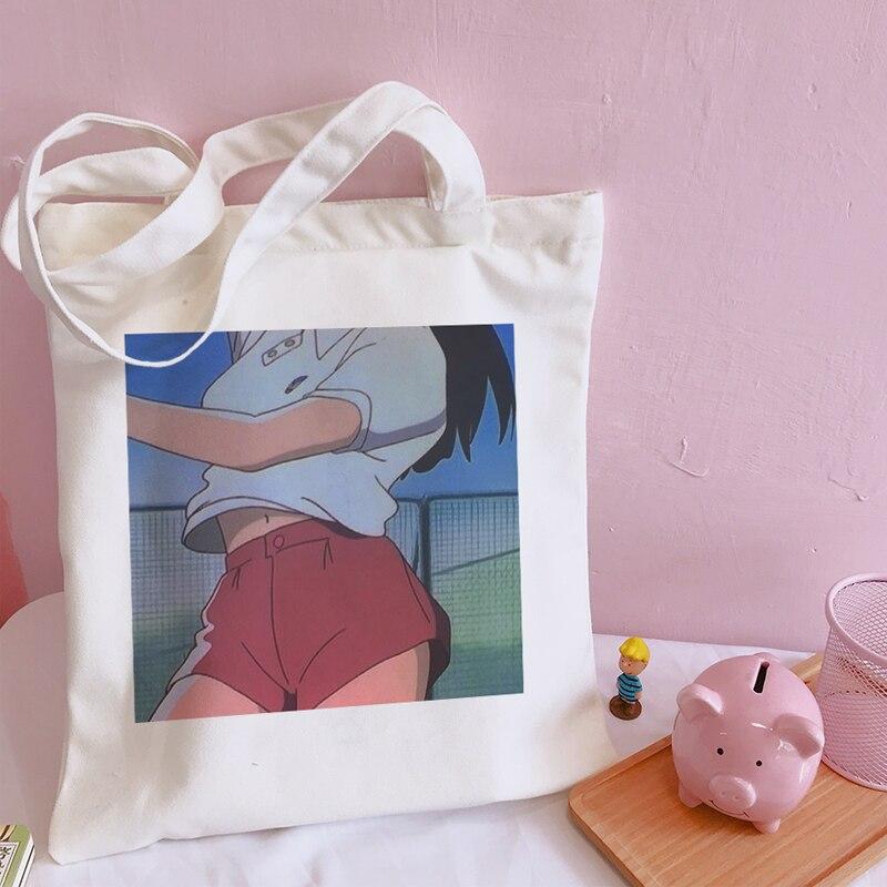 Japonês nova grande capacidade casual harajuku coréia ulzzang doce lona do sexo feminino faculdade dos desenhos animados diversão impressão sacos de ombro