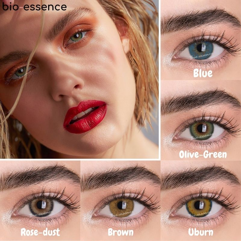 Lentillas De colores bio-essence, 2 unidades/PAR, uso anual, cosméticos para ojos, lentejas,...