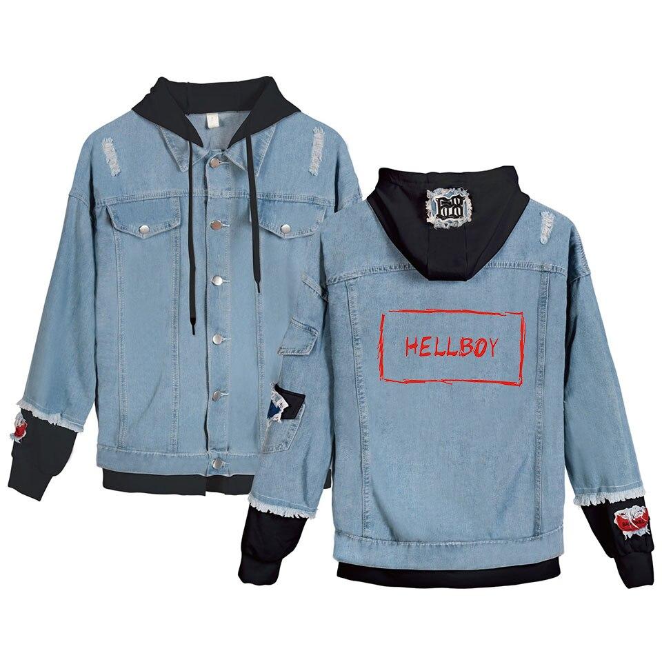 Классическая Детская джинсовая куртка Lil Peep Cry Xxxtentacion Revenge, джинсовая куртка с капюшоном, Мужская/Женская толстовка с капюшоном