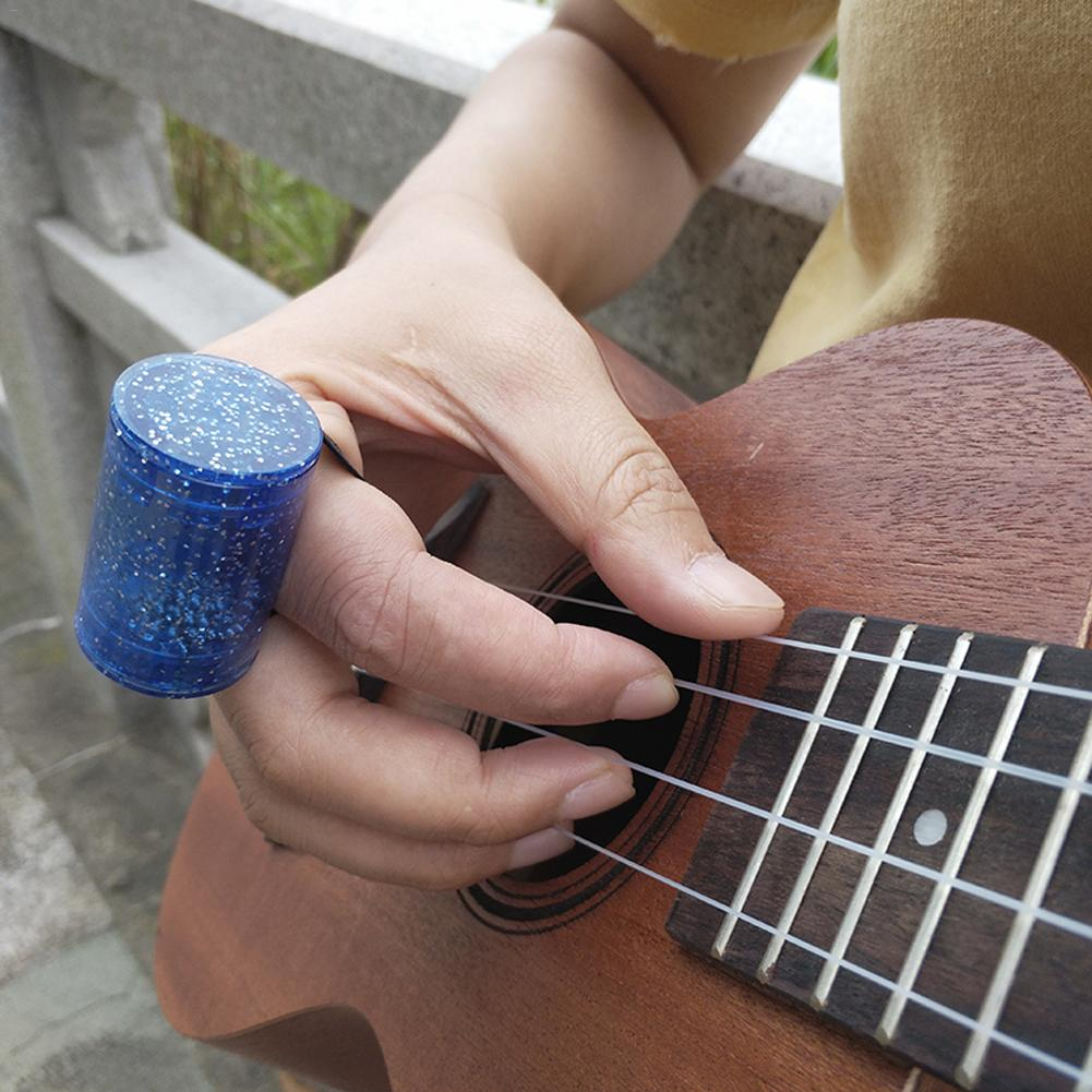 Martillo para dedos guitarras mezcladoras de arena acrílico ritmo guitarra con brillantina campana de arena instrumentos de Maracas música duradera
