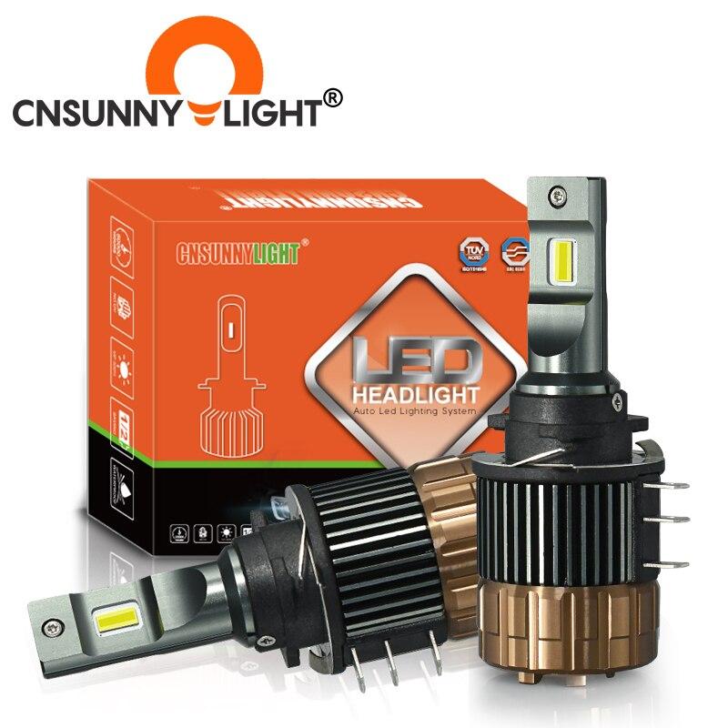CNSUNNYLIGHT H15 LED Canbus Day Time Running Lights Car Headlight 15000Lm For Mazda/BMW/Mercedes GLK/A180/Audi Q7 A6 A3/Golf 6 7