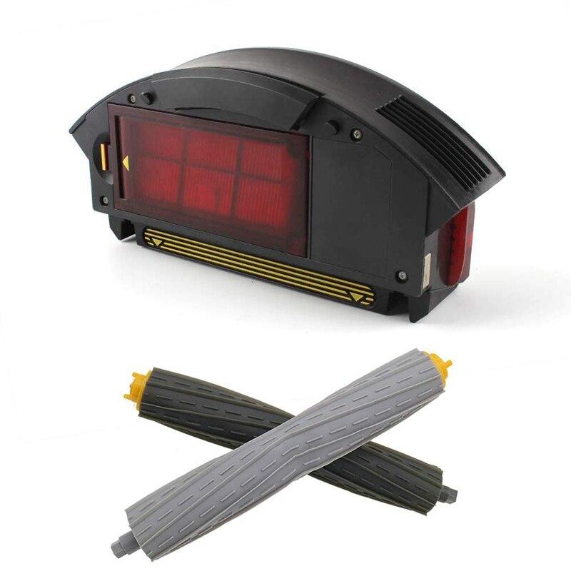 Hepa فلتر الغبار بن ل IRobot Roomba 800 ، 900 سلسلة صندوق جمع وزوج واحد الأمامي الخلفي الحطام النازع اكسسوارات أطقم