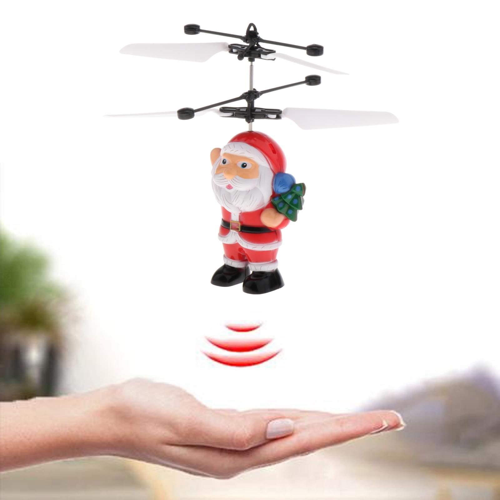 Santa Claus Flying Ball, Kids Toys RC Infrared Induction Helicopter Airplane Fun Gadgets Mini Drone