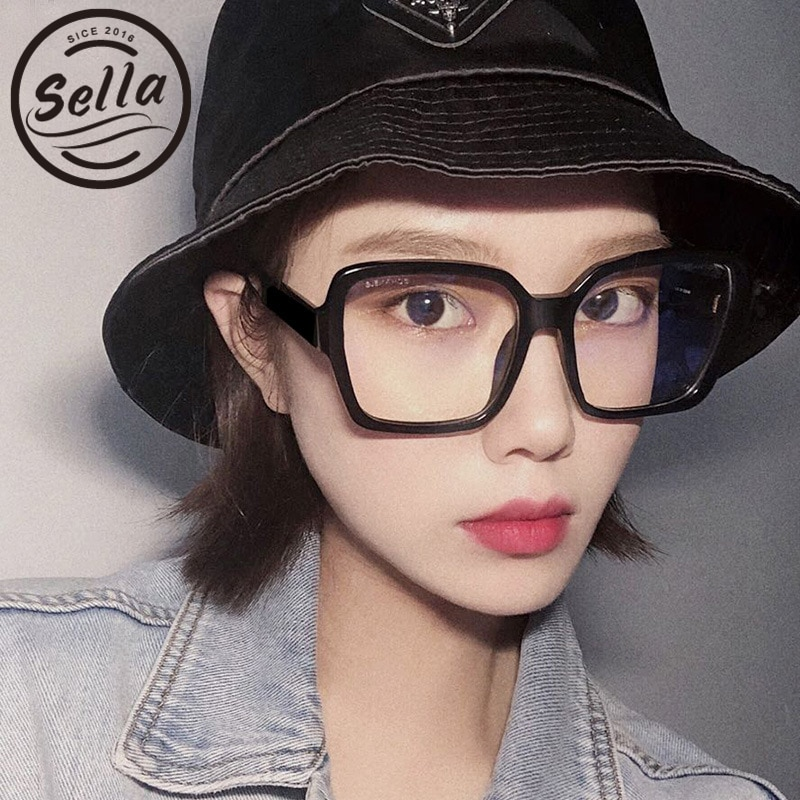 Sella nueva moda mujeres hombres de gran tamaño lente transparente cuadrado gafas marco marca Desginer azul luz bloqueo gafas Unisex