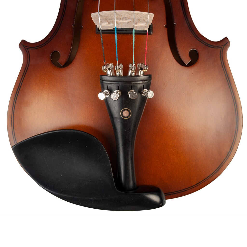 4/4 Electric Violin 4/4 Full Size EQ Electric Violin Fiddle Kit W/ Bow Case Rosin Bridge enlarge
