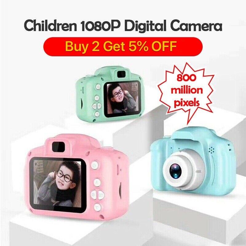 Hot Xmas Gift X200 Kids Camera Children Mini Digital Camera Cute Cartoon Cam 8MP 13MP SLR Toys for B