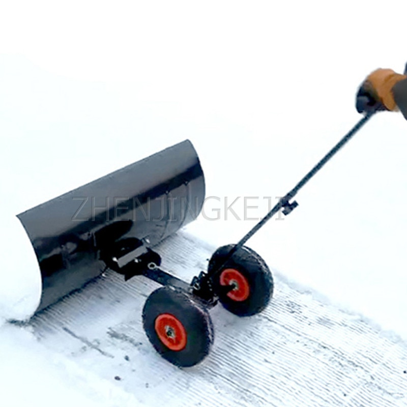 Wheeled Snow Shovel Artificial Snow Removal Snow Shovel Snow Removal Tools Stainless Steel Galvanized Sheet Road Cleaning Tools