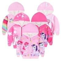 new high quality kids casual hoodies unicorn fleece jacket for girls winter christmas sweatshirt childrens clothing