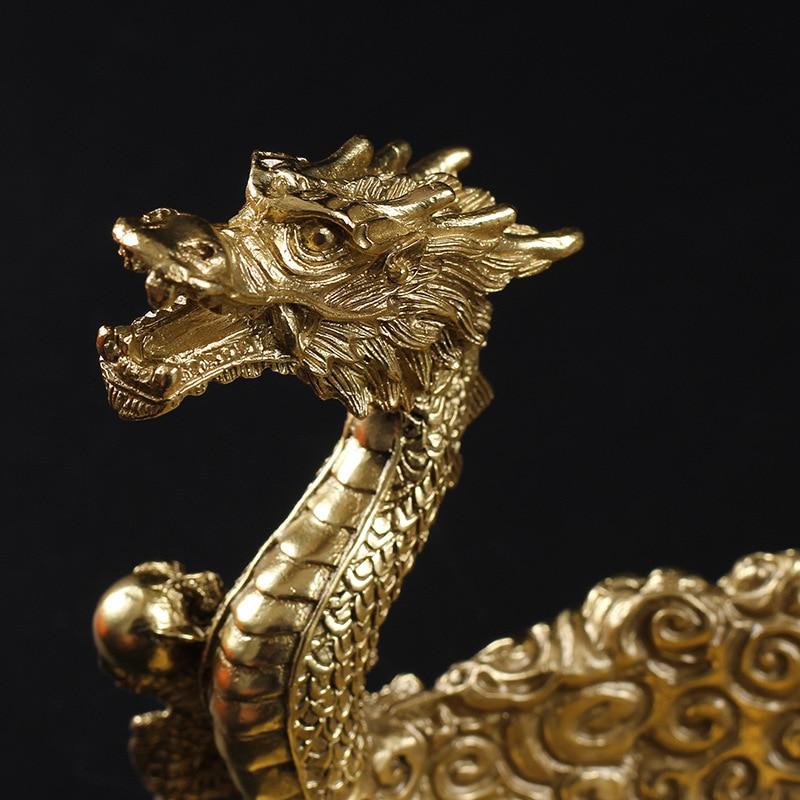Luxury Pipe Holder Dragon Bucket Holder Copper Stand Holder Rack Metal Pipe Desktop Tabletop Display Stand W/Gift Box enlarge