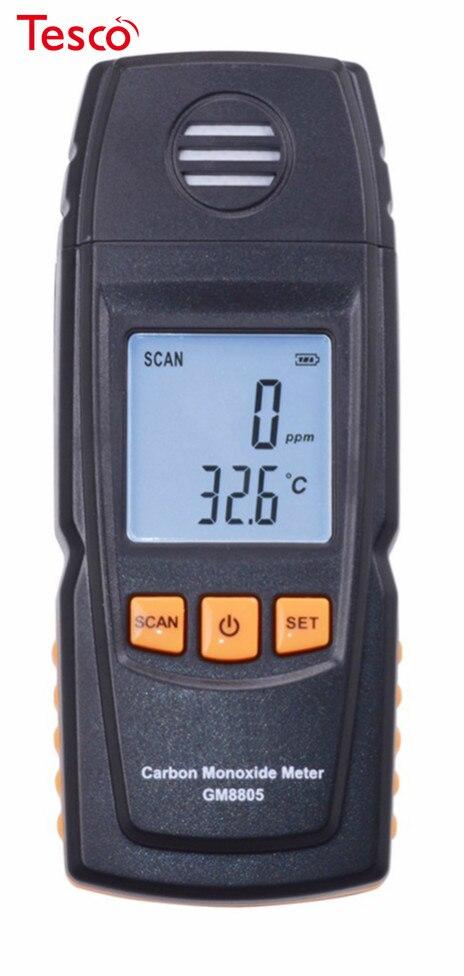 20pcs GM8805 Portable Handheld Carbon Monoxide Meter High Precision CO Gas Detector Analyzer Measuring Range 0-1000ppm Detector