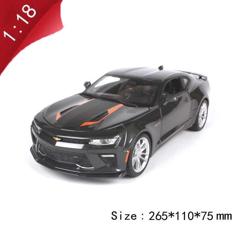 118 proporción aleación Vehículo de fundición a presión metal 2017 Camaro SS modelo de coche deportivo juguetes de regalo para niños adultos exhibición de colección