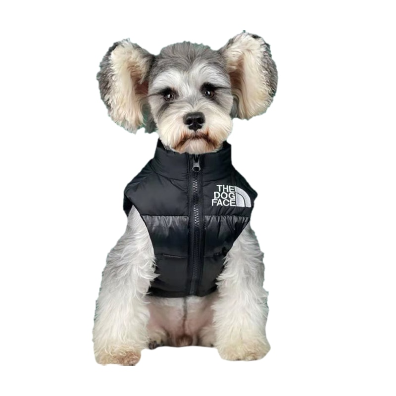 The Dog Face Pet Dog Clothes Luxurious Thick White Down Jacket Warm Autumn Winter Small and Medium F