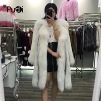 knitted real fox fur coat jacket overcoat women warm genuine fox fur coats long style 170906
