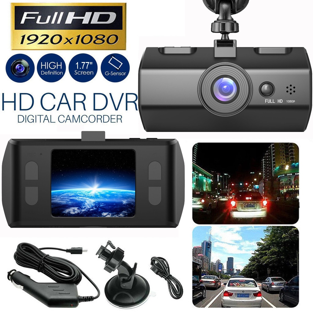 HD 1080P Car DVR Vehicle Camera Video Recorder Dash Cam Night Vision 1.7 inch