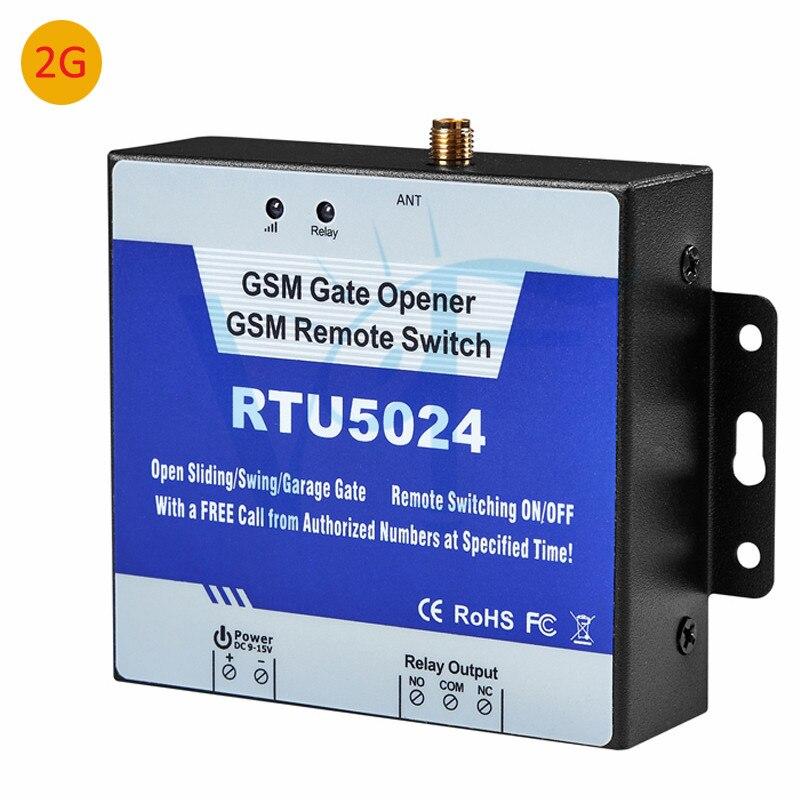2G RTU5024 abridor de puerta gsm corredera automática abridor de puerta de garaje de control remoto abridor de puerta de garaje auto puerta llamada gratis