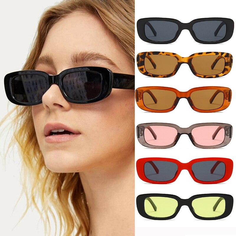 Small Rectangle Sunglasses Women Vintage Brand Designer Square Sun Glasses Shades Female Fashion Dri