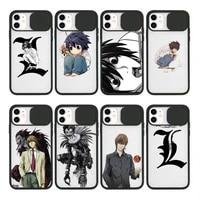 death note anime ryuk kira phone case for iphone 12 11 8 7 se 2020 mini pro x xs xr max plus transparent camera protection cover