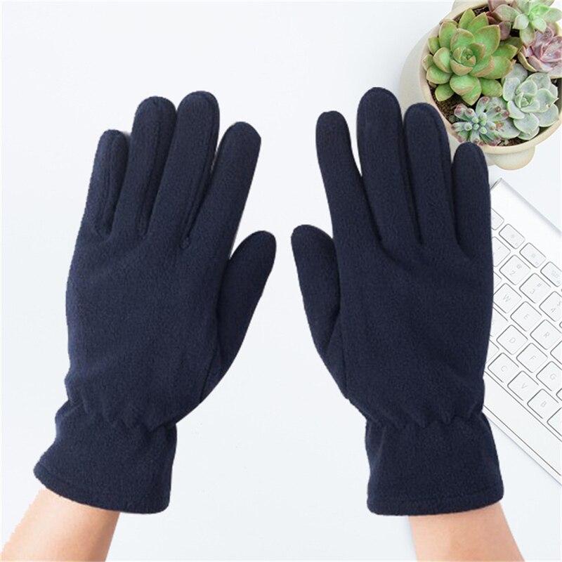 Зимние женские флисовые плюшевые перчатки, однотонные варежки с закрытыми пальцами на запястье, модные женские теплые перчатки, 8 цветов