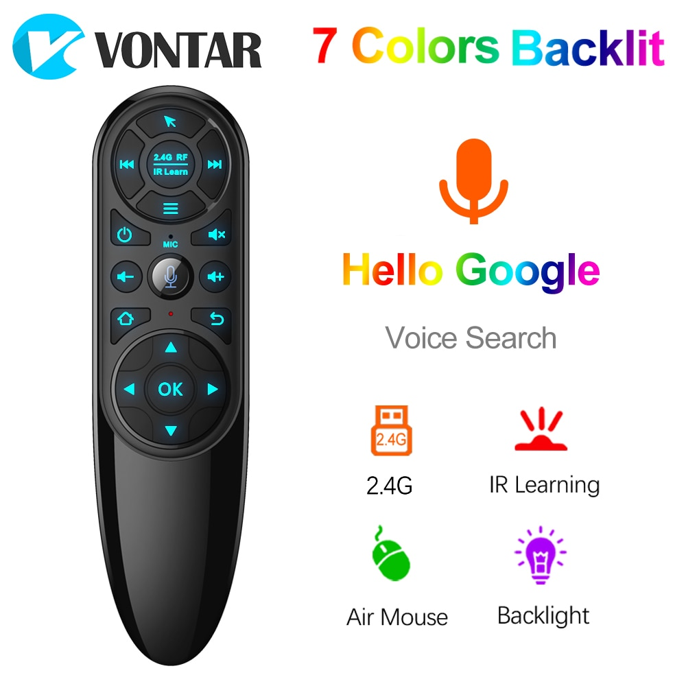 VONTAR Q6 Pro Voice Remote Control 2.4G Wireless Air Mouse Gyroscope IR Learning for Android tv box