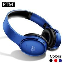 PTM سماعات لاسلكية سماعات بلوتوث على الأذن سماعة رأس قابلة للطي مع هيئة التصنيع العسكري بلوتوث 5.0