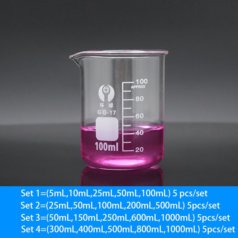 Фото - Set 1-4 Labotatory Glass Beaker Measuring Cup High Temperature Resistance All Sizes 17cm 230v 45w for ebmpapst w2s130 ab03 24 all metal high temperature resistance fan