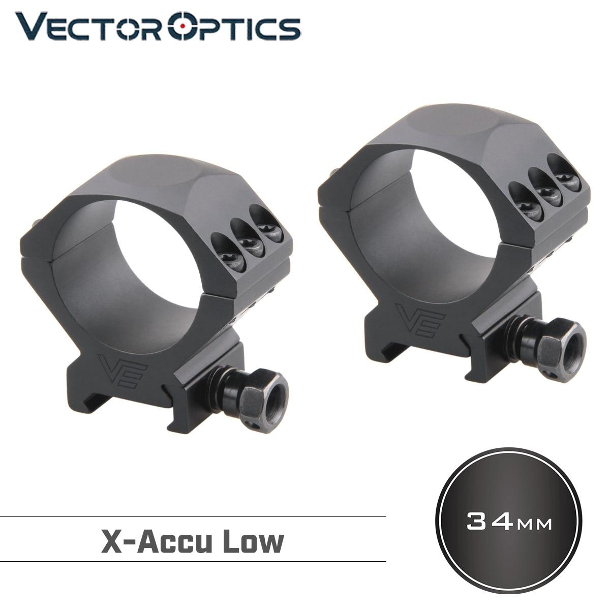Vector Optics 34mm x-exact Low RIflescope Mount Rings Picatinny 21mm alta calidad seis pernos 1,1 pulgadas de altura
