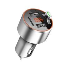 C68 mode Mini voiture Mp3 FM émetteur Bluetooth Portable MP3 lecteur de musique voiture FM lancement MP3 Support U disque USB TF carte