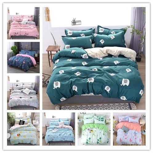 Verde oscuro minimalista elefante impreso ropa de cama Individual Doble King Size edredón cubierta para niñas/niños/adultos