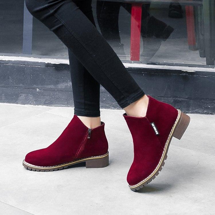 2020 NEW Women Martin Boots Autumn Winter Boots Classic Zipper Snow Ankle Boots Winter Suede Warm Fur Plush Women Shoes LH100035