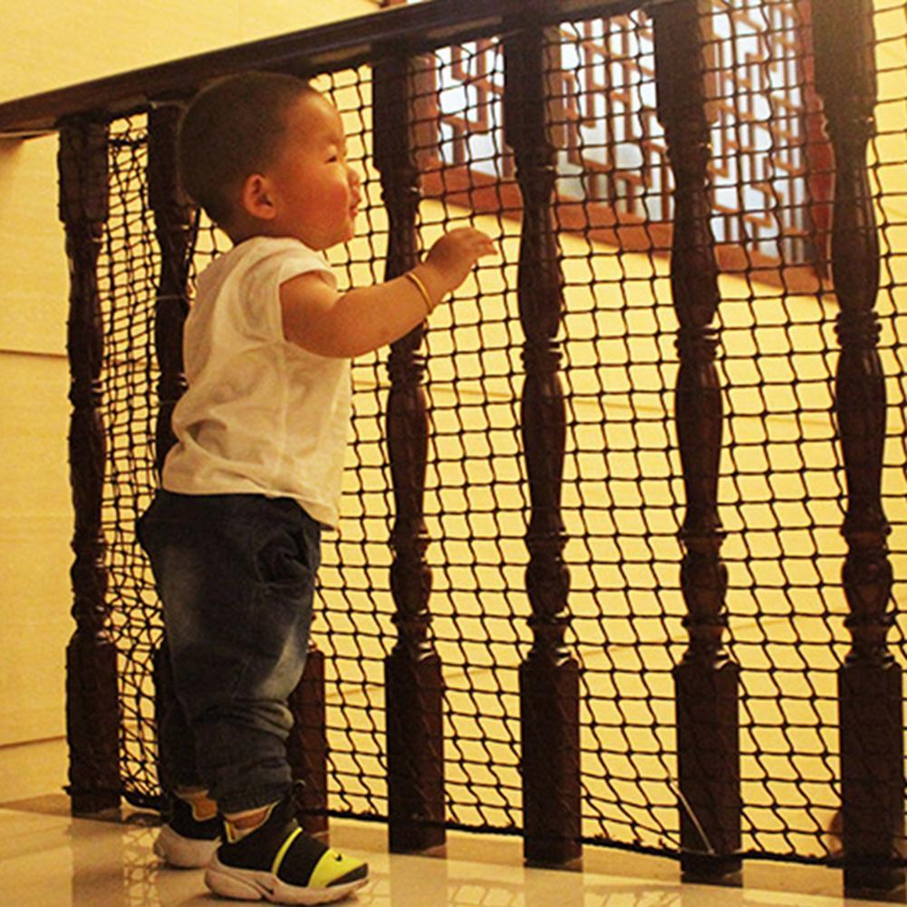 Защитные сетки для лестницы, заборы с барьером, портативная складная дышащая сетка, предотвращение падения, детский безопасный забор