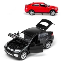 132 alloy road vehicle model childrens toy car ornaments boomer boys educational toy car model black red car