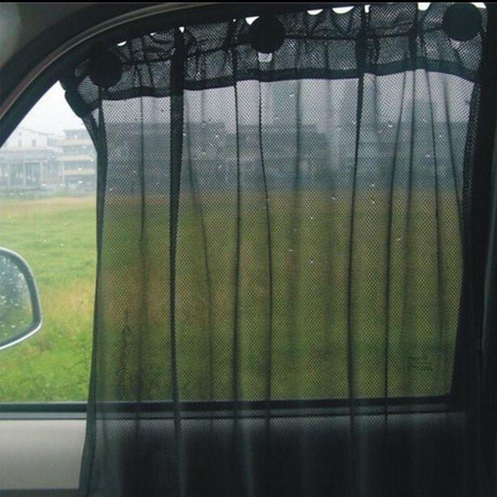 Автомобильные аксессуары для интерьера 42x70 см, занавеска на окна, черная/бежевая, солнцезащитная, анти-УФ сетка, автомобильная боковая пленка, солнцезащитный козырек