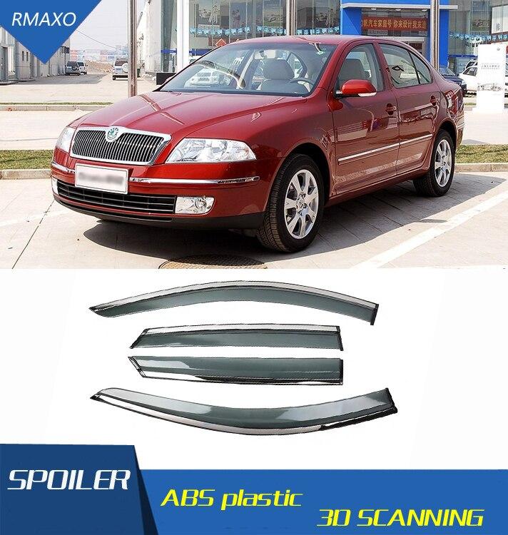 Para Skoda Octavia 2007-2013, visera para ventana, parasol Deflector de lluvia y sol para Skoda Octavia, accesorios para automóvil, 4 unidades/Set