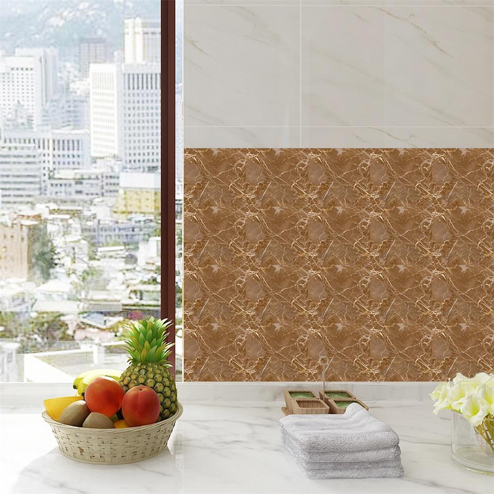 Imitação de mármore cinza mosaico telha adesivos cozinha oilproof adesivos telha de mármore arte da parede do banheiro cafés sala estar