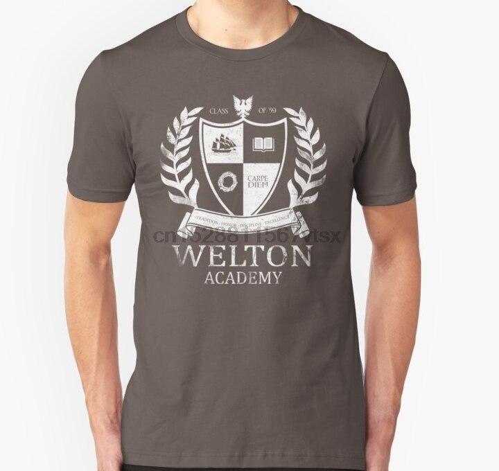 Men tshirt  Dead Poet Society   Welton Academy Unisex T Shirt Printed T-Shirt tees top