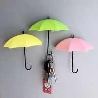korean style 3d umbrella creative strong stickers hook magnetic buckle stickers on the refrigerator home decoration storage hook