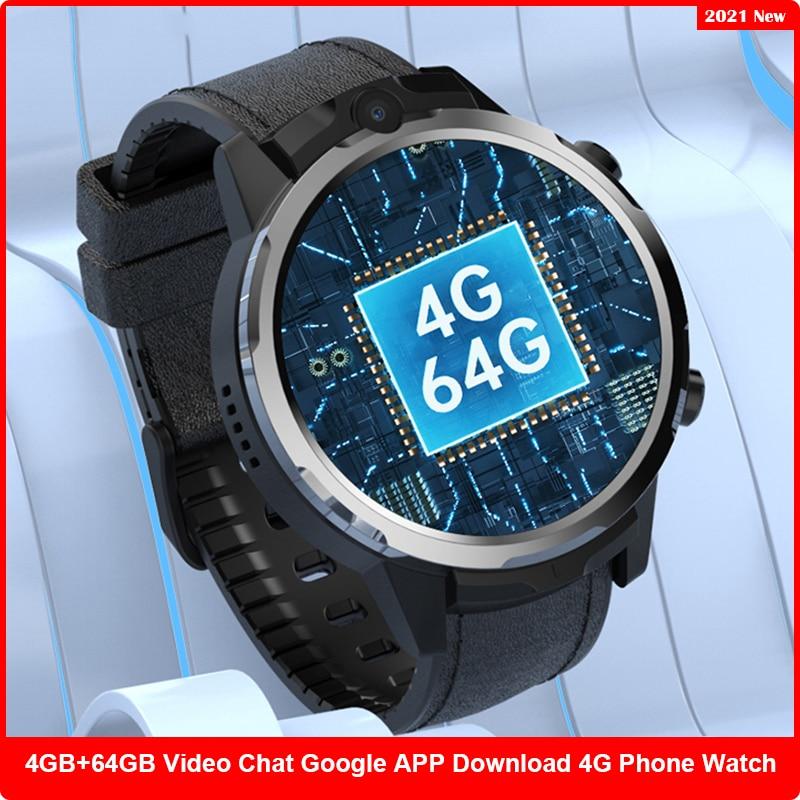 Promo New 4G+64GB Smartwatch Men GPS Tracker 4G SIM Card WiFi Quad Core Waterproof Google APP Smart Watch 2021 for Xiaomi Huawei Apple