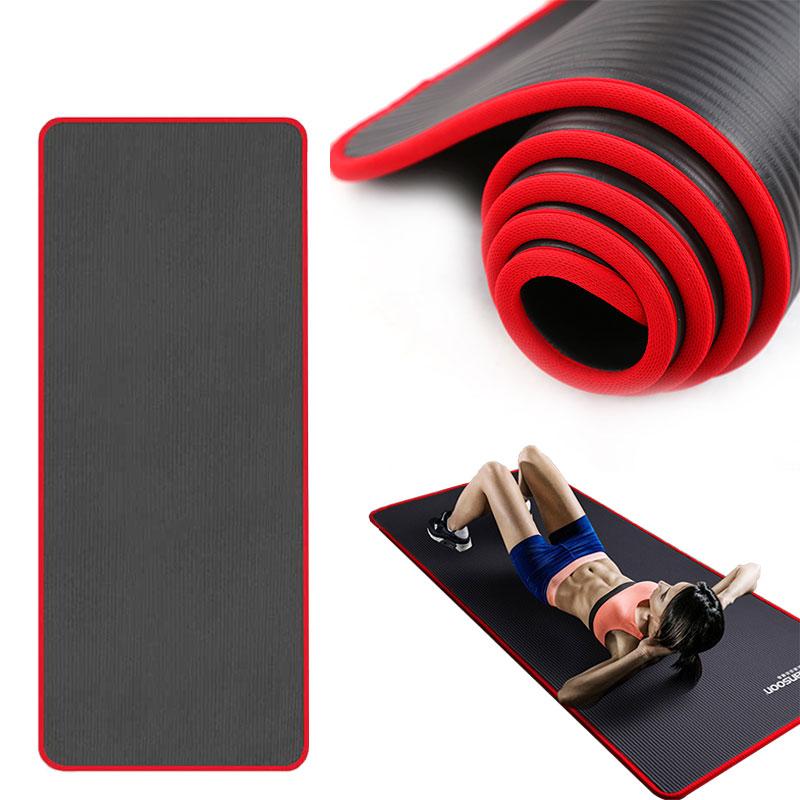 Nbr 10mm tapete de yoga antiderrapante rasgo apto esteira resistente ginástica ginástica esportes pilates borda-coberto almofadas antiderrapantes com ataduras