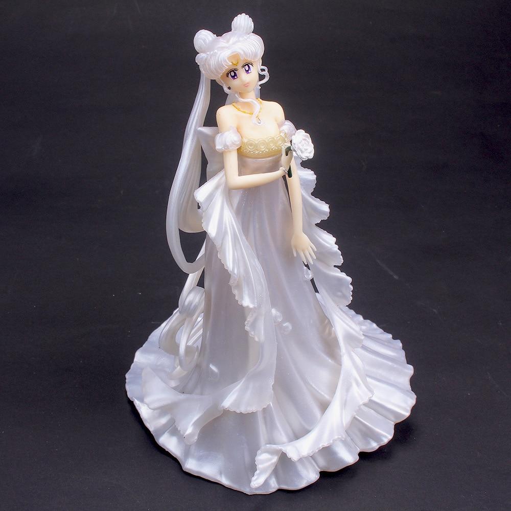 Wedding Dress Cartoon Sailor Moon Action Figures Japan Anime Figurines Girl Child Christmas Gift Home Accessories Living Room