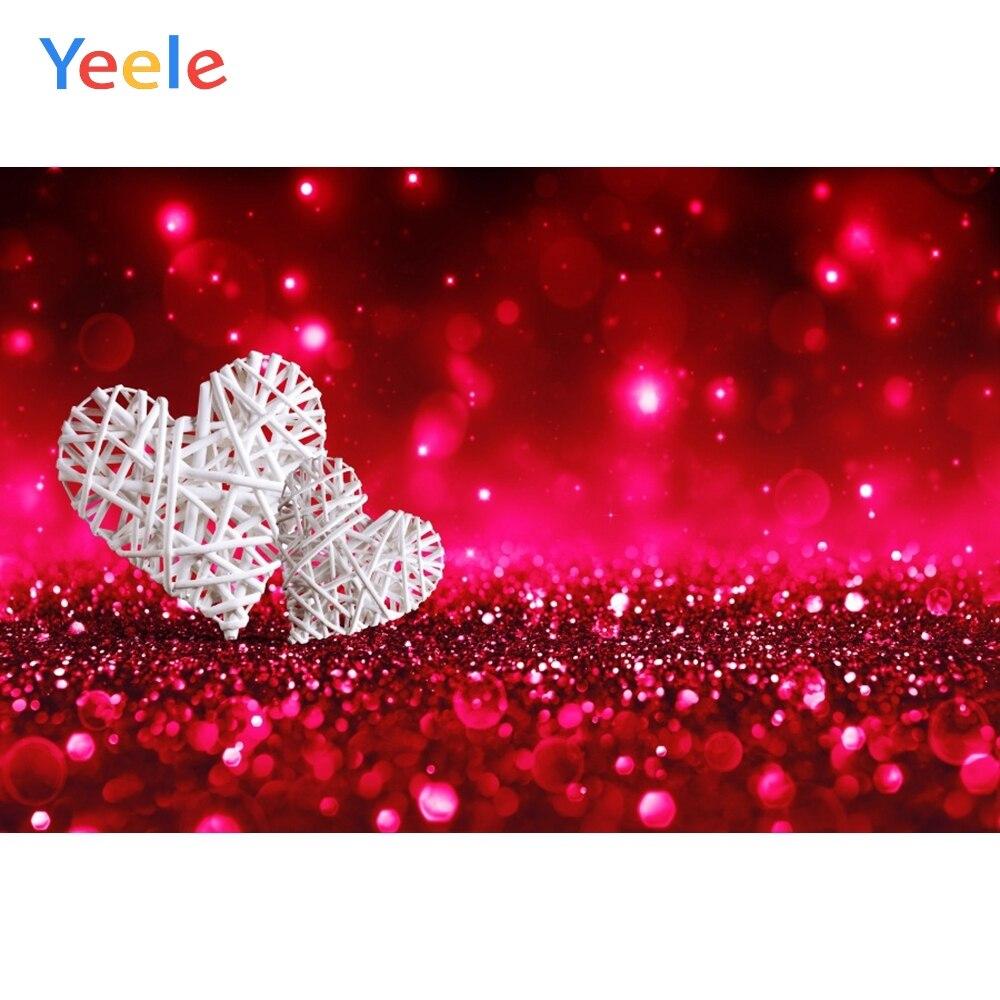 Fondos fotográficos personalizados para estudio fotográfico con corazones de amor y luz roja Bokeh Patry Cupido el 14 de febrero